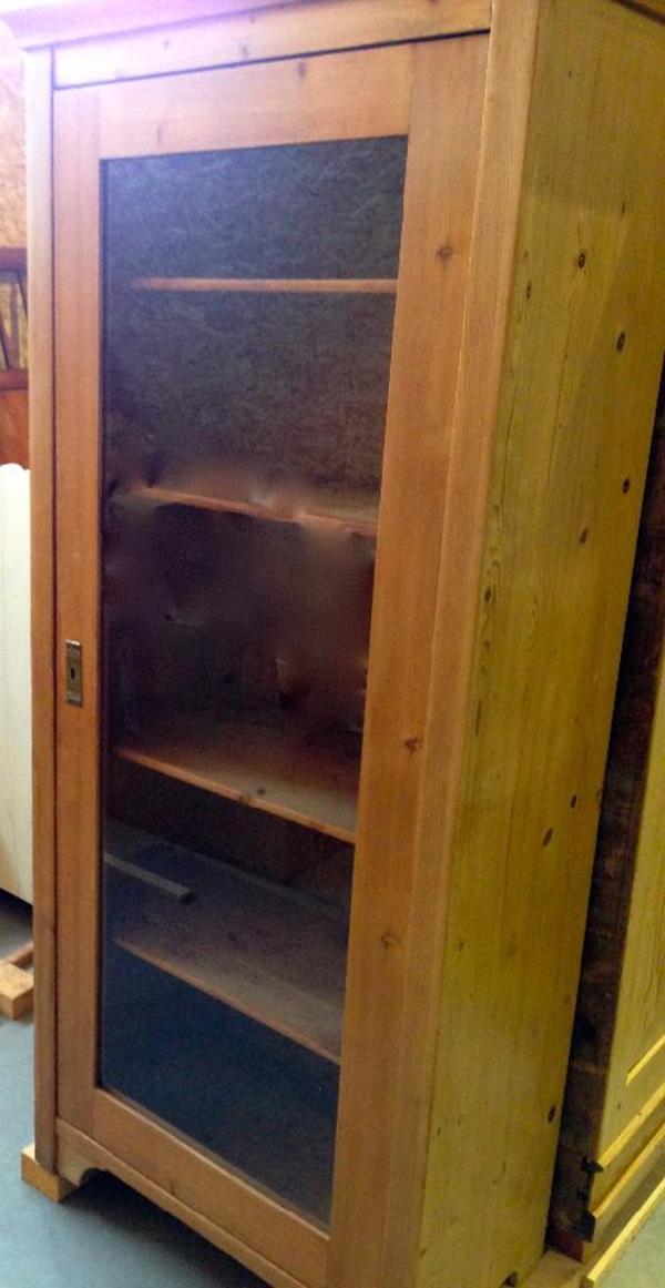 jugendstil m bel schrank mit glas weichholz um 1900 in. Black Bedroom Furniture Sets. Home Design Ideas