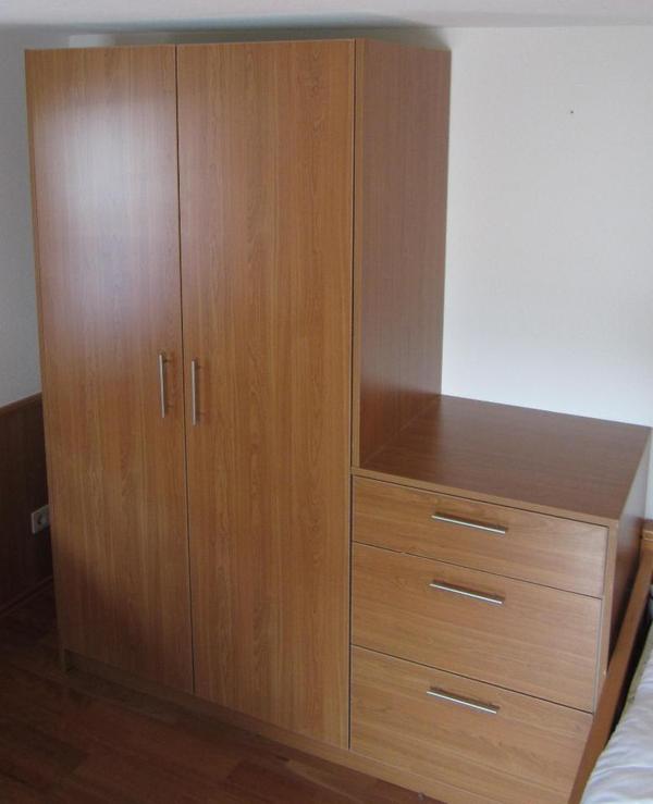 kleiderschrank mit sideboard in kirschbaum dekor in hergatz schr nke sonstige. Black Bedroom Furniture Sets. Home Design Ideas