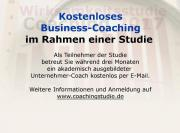 Kostenloses Business-Coaching