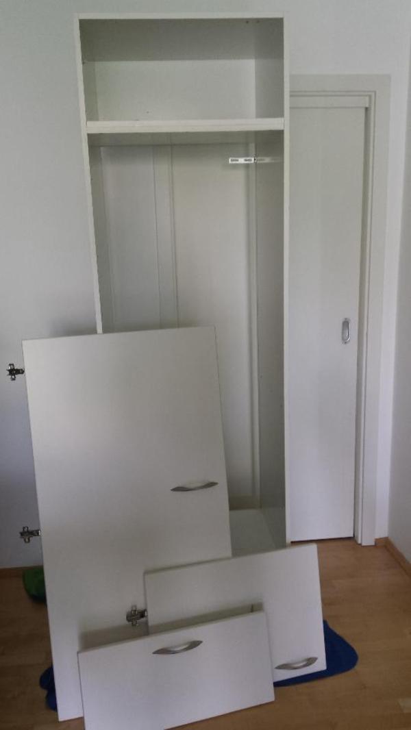 k chenhochschrank ma e bxhxt 60cm x 205cm x 56cm farbe wei t ren sind wegen abbau. Black Bedroom Furniture Sets. Home Design Ideas