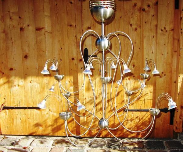 lambert la fontaine kronleuchter 8 armig eselstahl in aschau lampen kaufen und verkaufen. Black Bedroom Furniture Sets. Home Design Ideas