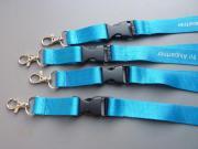 Lanyards, blau, mit