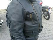 Leder Bikerjacke
