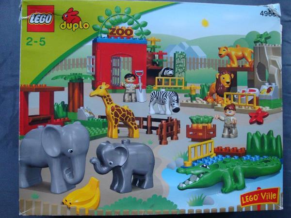 lego duplo gro er zoo 4968 in m nchen kaufen und verkaufen ber private kleinanzeigen. Black Bedroom Furniture Sets. Home Design Ideas