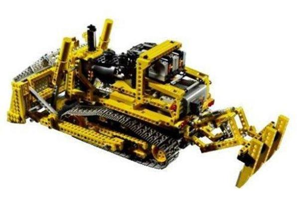 lego technic rc bulldozer mit motor und fernbedienung. Black Bedroom Furniture Sets. Home Design Ideas