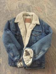 levis sherpa jeans jacke gr l teddyfell tiptop rares modell 71550 sehr. Black Bedroom Furniture Sets. Home Design Ideas