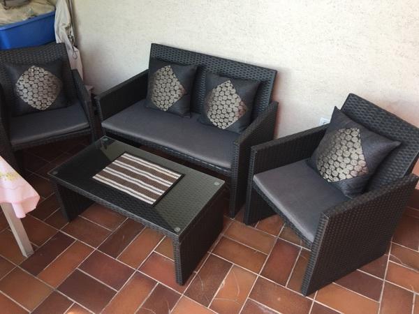 loungeset gartenm belset lounge sessel tisch sofa loungem bel in gr fenberg kaufen und. Black Bedroom Furniture Sets. Home Design Ideas