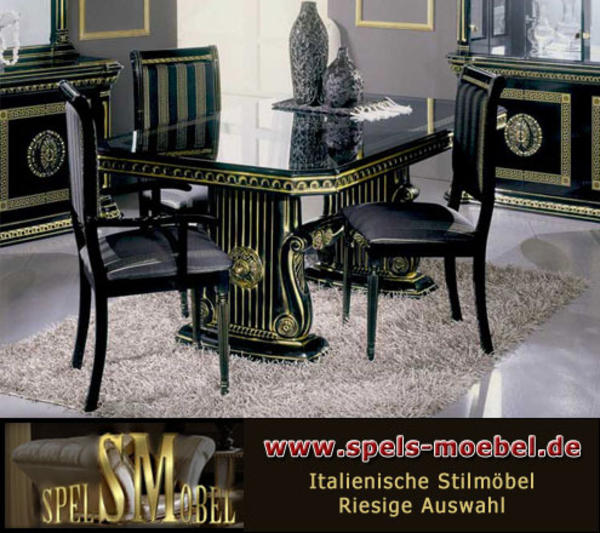 luxus m bel bar tresen wohnzimmer rossella schwarz gold hochglanz italienische klassische. Black Bedroom Furniture Sets. Home Design Ideas
