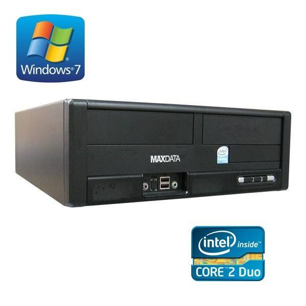 maxdata pc wie neu 2x 2 0 ghz 4gb ram windows 7 160gb festplatte dvd laufwerk dvi hdmi in. Black Bedroom Furniture Sets. Home Design Ideas