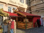Mittelalterlicher uriger Gastrostand