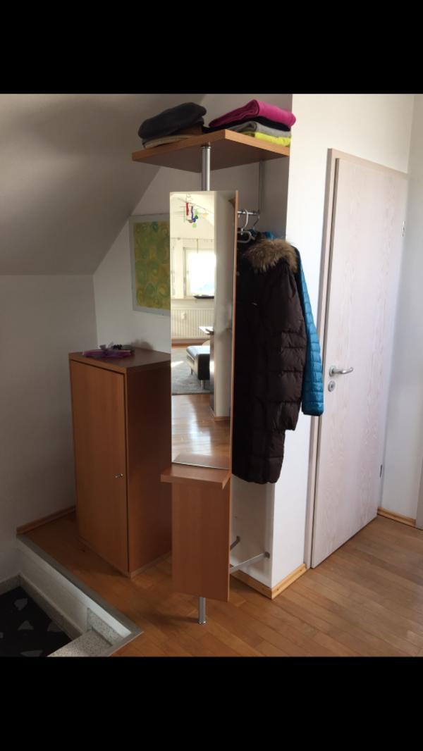 moderne garderobe mit drehbarem spiegel in ostfildern garderobe flur keller kaufen und. Black Bedroom Furniture Sets. Home Design Ideas