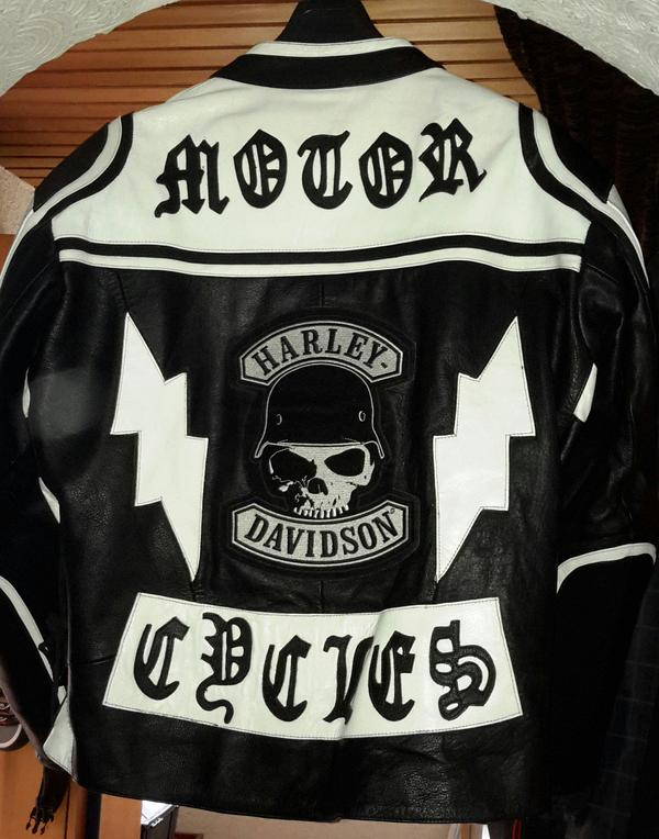 motorradjacke harley davidson aufn her 2xl 3xl vom. Black Bedroom Furniture Sets. Home Design Ideas