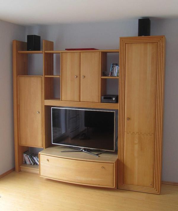 musterring schrankwand buche massiv regalwand wohnzimmer in pfungstadt wohnzimmerschr nke. Black Bedroom Furniture Sets. Home Design Ideas