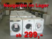 NEUGERÄTE  Waschmaschine ab