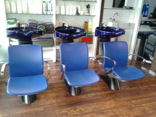 olymp waschanlage farbe stuhl blau und chrom waschbecken. Black Bedroom Furniture Sets. Home Design Ideas