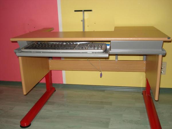 orginal moll computertisch schreibtisch pc tisch buche rot in bruchsal kinder. Black Bedroom Furniture Sets. Home Design Ideas