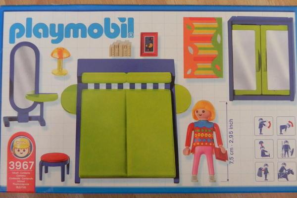 Spielzeug lego playmobil playmobil schlafzimmer 3967 for Playmobil haus schlafzimmer