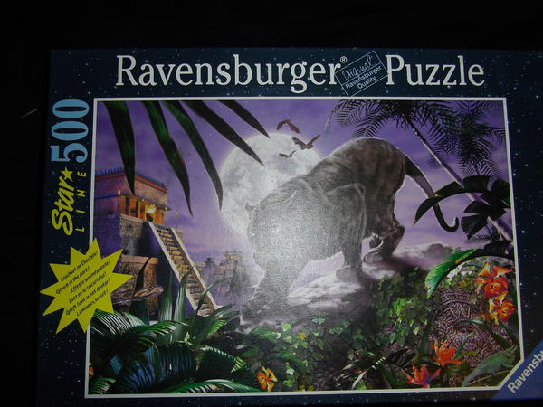 puzzle ravensburger leuchtpuzzle neuwertig in. Black Bedroom Furniture Sets. Home Design Ideas