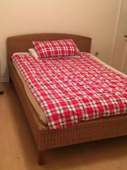 Rattanbett Bett Rattan
