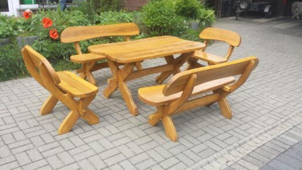 Hagebaumarkt Gartenmobel Angebote : Rustikale Gartenmöbel, Sitzgruppe, Massivholz , Gartengarnitur,NEU