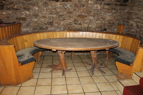 rustikale tischplatten aus massivholz 5 cm stark in forst. Black Bedroom Furniture Sets. Home Design Ideas