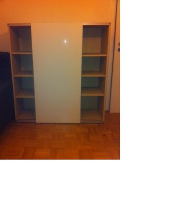 schiebet renschrank besta ikea buche wei in. Black Bedroom Furniture Sets. Home Design Ideas