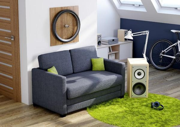 Schlafsofa schlafcouch jugendsofa kindersofa m lattenrost for Schlafcouch lattenrost