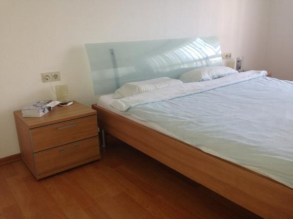 Schlafzimmer, komplett, Set, Bett, Kleiderschrank,Nachtische in ...