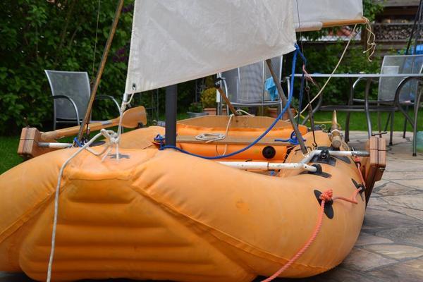 schlauchboot metzeler maya mit besegelung in gerstetten. Black Bedroom Furniture Sets. Home Design Ideas