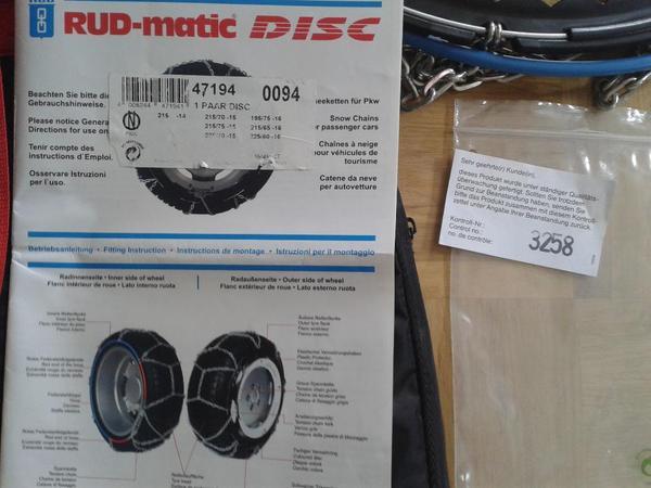 schneeketten rud matic disc 47194 0094 215 70 15 215 75. Black Bedroom Furniture Sets. Home Design Ideas