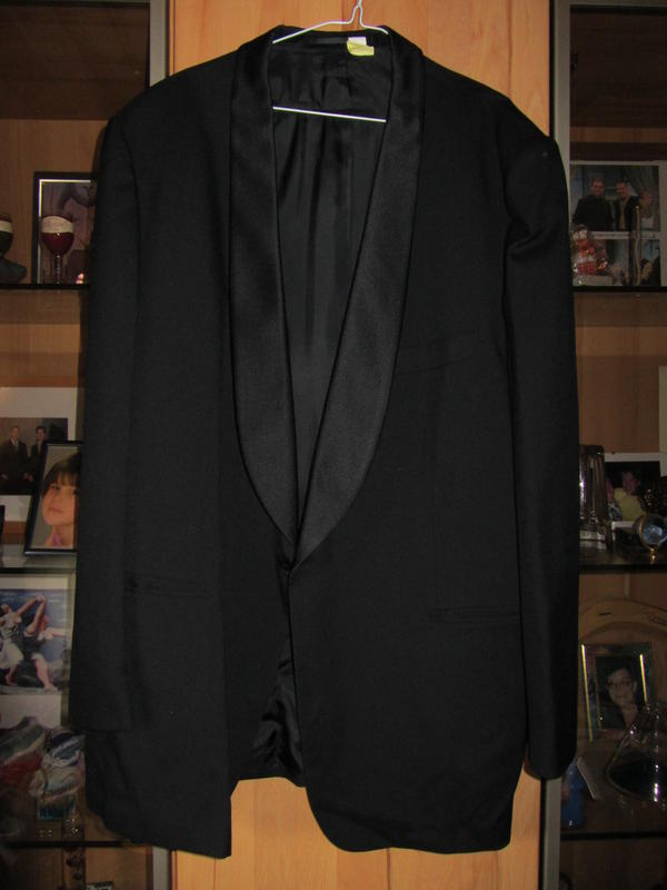 schÖnes gepflegtes schwarzes smoking anzug mit sakko