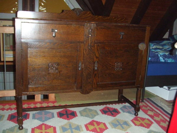 schrank sideboard anrichte um 1930 eiche cws cabinet works birmingham england in r sselsheim. Black Bedroom Furniture Sets. Home Design Ideas