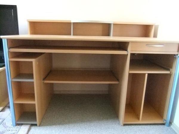 schreibtisch massiv neu und gebraucht kaufen bei. Black Bedroom Furniture Sets. Home Design Ideas