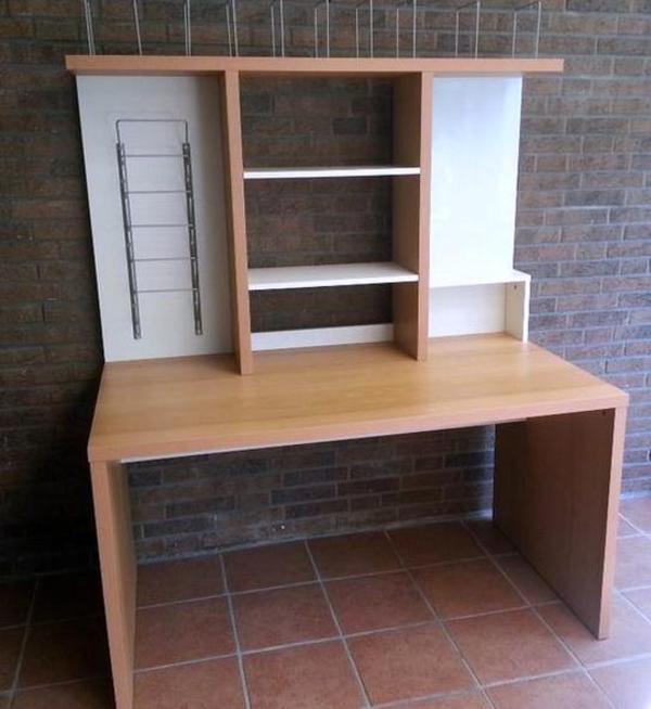 Apothekerschrank Weiß Hochglanz Ikea ~ Schreibtisch MIKAEL mit Aufsatz, Glasplatte und Bürostuhlunterlagee