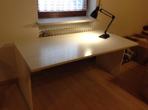 Schreibtisch weiss in aichach b rom bel kaufen und for Schreibtisch quoka