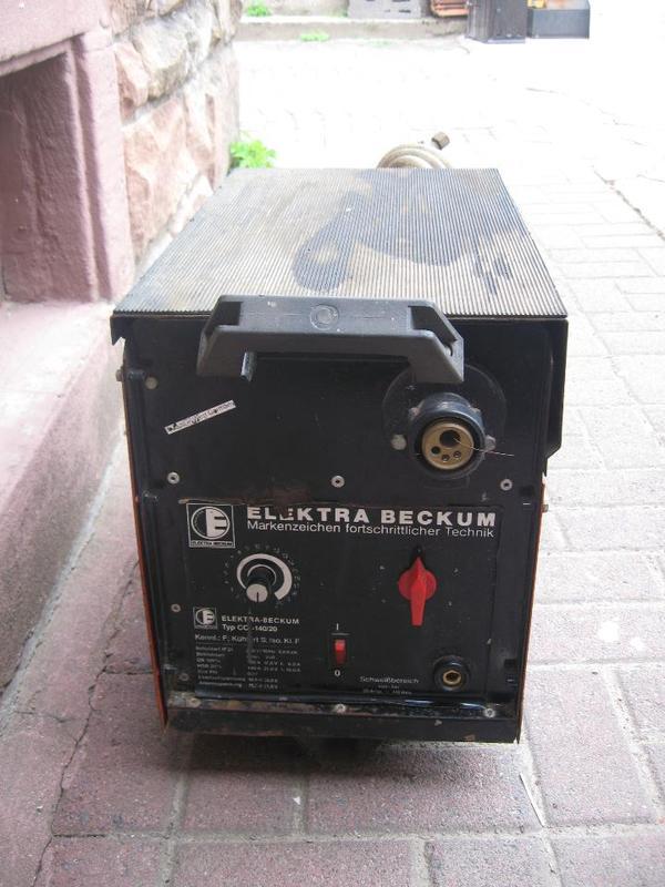 schutzgasschweissger t elektra beckum 230 volt cc 140 20. Black Bedroom Furniture Sets. Home Design Ideas