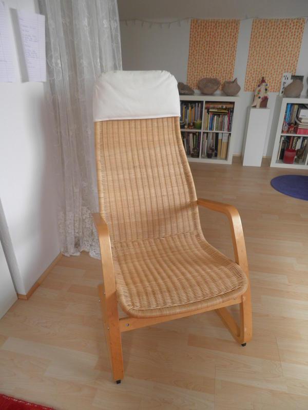 schwingstuhl aus peddigrohr ikea neuwertig in seeheim. Black Bedroom Furniture Sets. Home Design Ideas