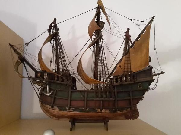 Segelschiff holz segler standmodell gro segler in for Dekoartikel holz