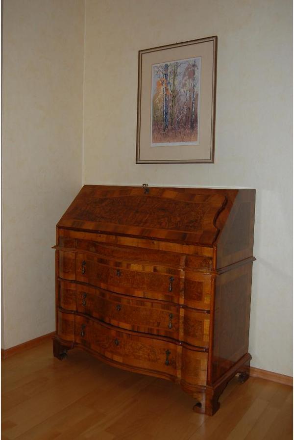 sekret r antik mit wurzelholz in frankenthal stilm bel. Black Bedroom Furniture Sets. Home Design Ideas