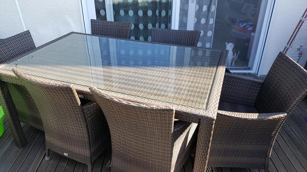 polyrattan sitzgruppe kaufen gebraucht und g nstig. Black Bedroom Furniture Sets. Home Design Ideas