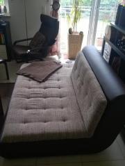 Sofa Kunstleder braun
