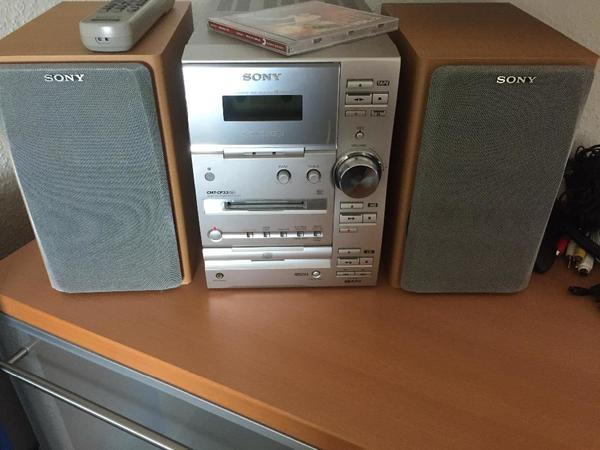 sony mini stereoanlage mit cd radio md kassette und. Black Bedroom Furniture Sets. Home Design Ideas