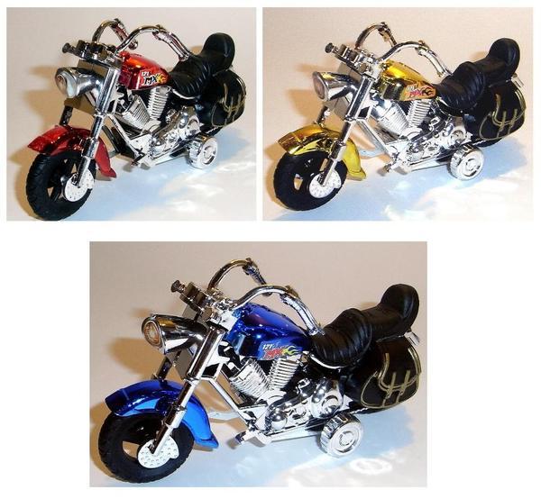 spielzeug motorrad chopper look in 3 farben neu spielzeug. Black Bedroom Furniture Sets. Home Design Ideas