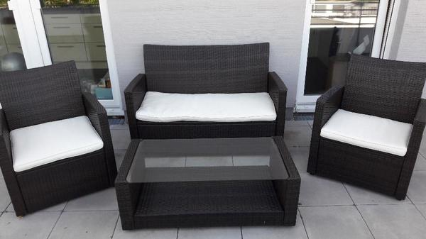 stylische gartenm bel aus polyrattan wie neu in ludwigshafen kaufen und verkaufen ber. Black Bedroom Furniture Sets. Home Design Ideas