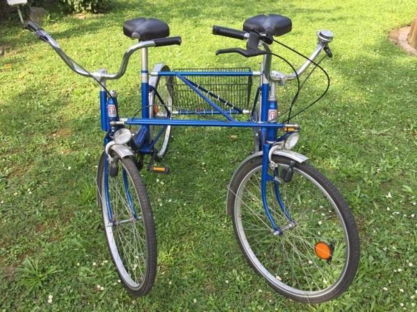 tandem f r versehrte menschen blau von der firma loped in ludwigshafen sonstige fahrr der. Black Bedroom Furniture Sets. Home Design Ideas