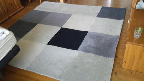 teppich ikea uldum schwarz grau 2 30 m x 2 30 m in m nchen teppiche kaufen und verkaufen ber. Black Bedroom Furniture Sets. Home Design Ideas
