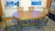 Tisch oval, Eiche