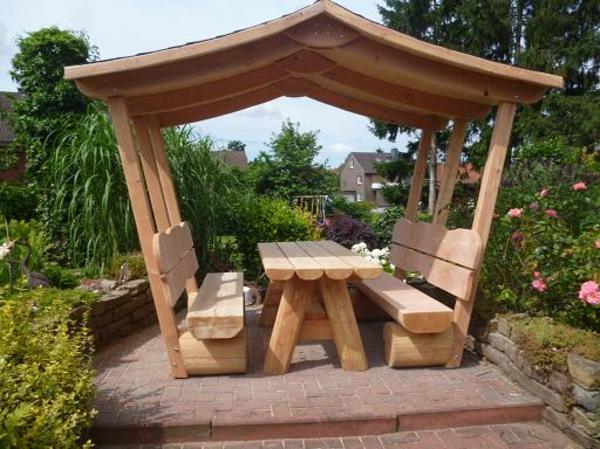 Überdachte Sitzgruppe ,ideal für Garten,teilmontiert Gartenmöbel