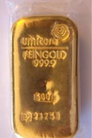 Umicore Edelmetall Goldbarren