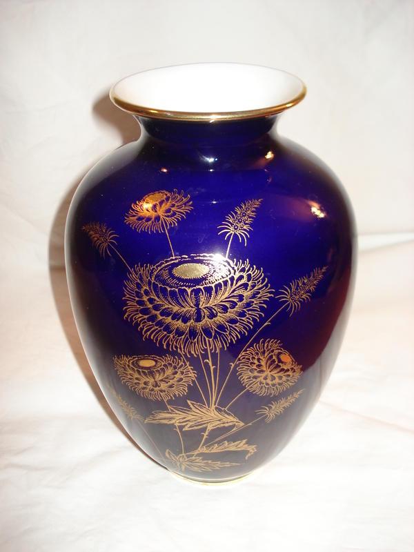 vase echt kobalt gold von royal kpm cobaltblau mit golddekor in heppenheim glas porzellan. Black Bedroom Furniture Sets. Home Design Ideas